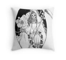 Bella Muerte Throw Pillow