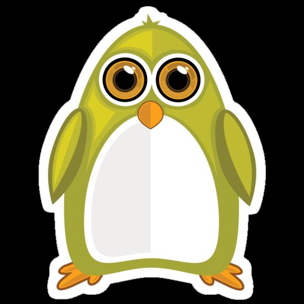 Yellow Green Penguin 2 by Adamzworld