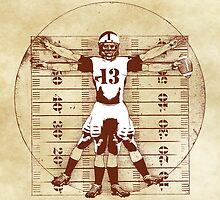 Vitruvian Football Player (Natural Tones) by KAMonkey