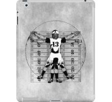 Vitruvian Football Player (B&W Tones) iPad Case/Skin