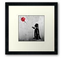 Little Vader Framed Print