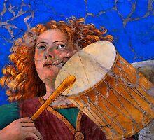 Musical Angel Basking in the Light of Heaven by Nigel Fletcher-Jones
