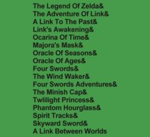 The Legends of Zelda (Black) by AllTheRooks