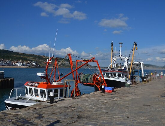At The Harbour Today- Lyme Dorset UK by lynn carter