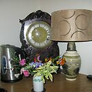 An Antique Clock and a Lamp by MidnightMelody