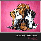 Cavalier King Charles Spaniels Off-Leash Art™ Vol 1 by offleashart