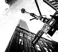 West 33rd St. Empire State Building by woodnimages