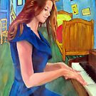 playing piano in Gogh's room by Hidemi Tada