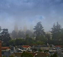 St Ignatius In The Fog by David Denny
