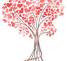 Heart Tree - Valentree by Yapity