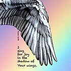 Sing For Joy Under Your Wings Rainbow Phone Case by MyArtefacts