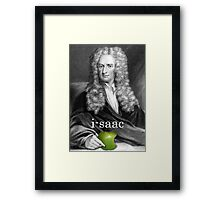i-saac Newton Framed Print