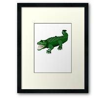 Green Crocodile Framed Print
