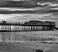 Cromer Pier in black and white by Avril Harris