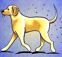 Yellow Lab Shedding Dog Hair Blue by offleashart