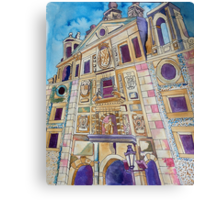 The Inky Towers Of Madrid Canvas Print