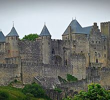 """ The Eastern wall of  Carcassonne castle"" by mrcoradour"