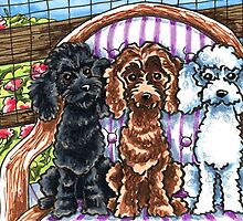 Toy Poodle Summer Spot by offleashart