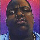 Biggie Smalls Hip Hop Portrait by Jef2D