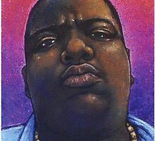 Biggie Smalls Hip Hop Portrait by Jef2D