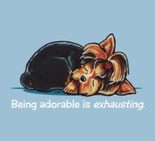 Yorkie Being Adorable is Exhausting (dark apparel) by offleashart