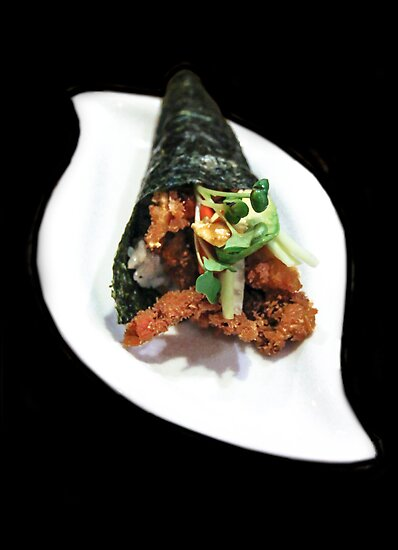 Crab Hand Roll by heatherfriedman