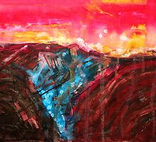 Borrego Badlands original painting by CrowRisingMedia