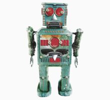 Vintage Robot T- shirt by toddalan