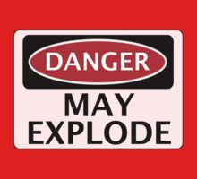 DANGER MAY EXPLODE FAKE FUNNY SAFETY SIGN SIGNAGE by DangerSigns