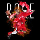 Derrick Rose on White T-Shirt by hardsign