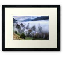 Mist On The Waters- Jingellic NSW/Walwa Victoria - The HDR Experience Framed Print