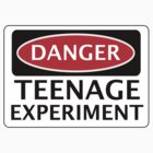 DANGER TEENAGE EXPERIMENT FAKE FUNNY SAFETY SIGN SIGNAGE by DangerSigns