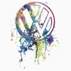 VW Emblem - Splatter by blulime