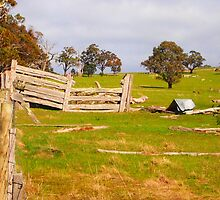 On the farm West Pyalong VIC Australia by Margaret Morgan (Watkins)