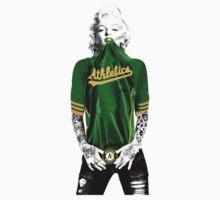 Marilyn Monroe Oakland A's by daleos