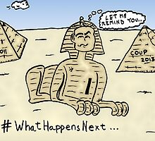 Soothsaying Sphynx caricature by Binary-Options