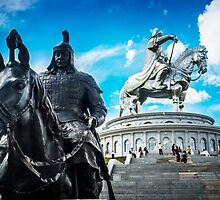 Chinggis Khan and his body guard by Ruben D. Mascaro