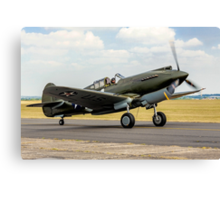 Curtiss P-40B 41-13297 G-CDWH Taxying Canvas Print