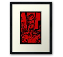 Zombie Christ (In Red) Framed Print