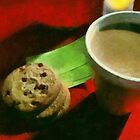 Coffee and Cookies at the Café by RC deWinter