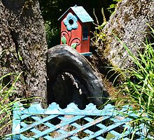Bluebird of Happiness Birdhouse! by Carol Clifford