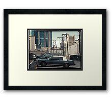 Vintage cars of the 1970s in Las Vegas, Kodachrome Framed Print