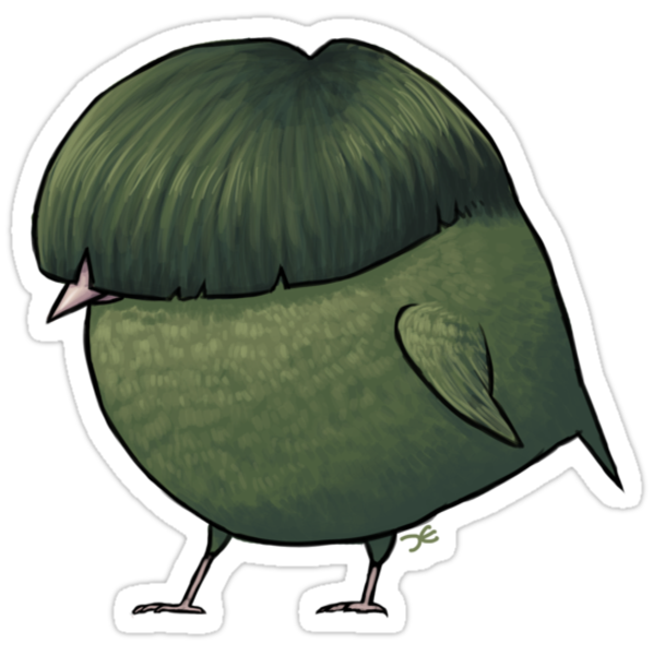 Fat Finch - sticker by Demmy