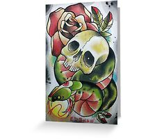 Skull with Serpent Tounge Greeting Card