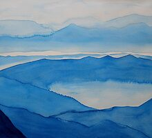 Peninsular Ranges original painting by CrowRisingMedia