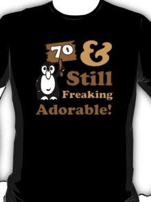 Cute 70th Birthday Gift For Women T-Shirt
