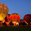 Jackson Hot Air Balloon Glow by Debbie  Maglothin
