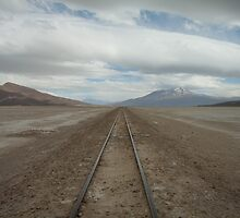 Railway through the desert. by GHeathcote