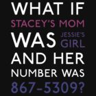 What If Stacey's Mom Was Jessie's Girl and Her Number Was 867-5309? (Dark Colors) by theITfactor