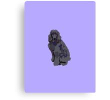 Purple Poodle Canvas Print
